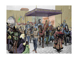 Entry of Antipope John Xxiii (1360-1554) in Constanta to Celebrate the 'Council of Constance'… Giclee Print
