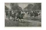 Afternoon in Hyde Park, London: Rotten Row Giclee Print by Jan Van Chelminski