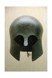 Archaic Bronze Helmet. Corinthian Type. 700-675 B.C. Greece Giclee Print