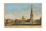 A Perspective View of the North West Front of the Parish Church of St Brides with the Beautiful… Giclee Print by John Donowell