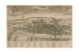 A View of London About the Year 1560 Giclee Print