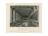 Delivery of the Annual Orations in the Great Hall Giclee Print by Llewellyn Jewitt