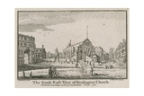 The South East View of Kensington Church Giclee Print by Jean Baptiste Claude Chatelain