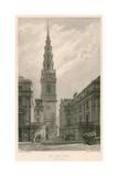 St Bride's Church, Fleet Street, London Giclee Print by Frederick Mackenzie