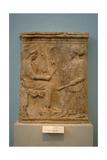 Votive Relief Representing Demeter and Kore. V Century B.C. Greece Giclee Print