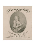 Musical Score for Love from the Heart as Sung by Miss Love Giclee Print
