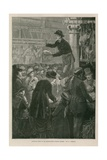 Saturday Night in the Metropolitan Poultry Market Giclee Print by Walter Jenks Morgan