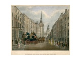 The Cambridge Coach Leaving Belle Sauvage Yard, Ludgate Hill, London Giclee Print by James Pollard