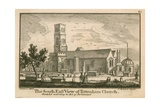 The South East View of Tottenham Church, London Giclee Print by Jean Baptiste Claude Chatelain