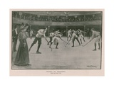 Hockey at Hengler's Giclee Print by Ernest Prater