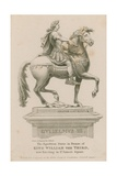 Equestrian Statue of King William III Giclee Print by Samuel Rawle