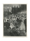 The Reception Given by the Speaker's Wife, Mrs Gully, at the House of Commons Giclee Print by Walter Wilson