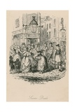 Seven Dials, London Giclee Print by George Cruikshank