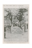 The Polo Pony Show at Ranelagh, the Jumping Competition Giclee Print by Walter Stanley Paget