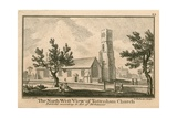 The North West View of Tottenham Church, London Giclee Print by Jean Baptiste Claude Chatelain