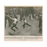 The First Annual Tournaments of L'Epee Club in Gray's Inn Garden Giclee Print by Frederick Henry Townsend