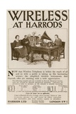 Wireless at Harrods Giclee Print