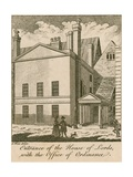 Entrance of the House of Lords with the Office of Ordinance, Westminster Giclee Print by Samuel Wale