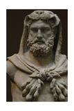 Roman Art. Marble Statue of a Bearded Hercules Covered with Lion's Skin. Early Imperial, Flavian.… Giclee Print