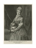 Lady Mary Fitzpatrick, Second Lady Holland Giclée-tryk af Pompeo Girolamo Batoni