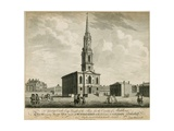 North West View of St Giles's Church in the Fields, London Giclee Print by John Donowell