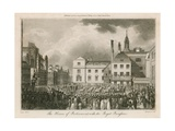 The Houses of Parliament with the Royal Procession Giclee Print by Edward Pugh