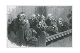 Sketches in the Royal Courts of Justice: a Common Jury Giclee Print by Robert Barnes