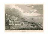 View of Somerset House, the Strand, London, from the Thames, Westminster Giclee Print by Frederick Mackenzie