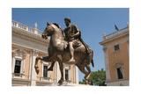 Rome. Equestian Statue of Emperor Marcus Aurelius. Piazza Campodoglio. Italy Giclee Print