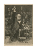 Introduction of the Home Rule Bill - Mr Gladstone Delivering His Peroration Giclee Print by Walter Wilson