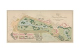 Plan of the Proposed Alterations to St James's Park, London Giclee Print