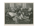 In the Reading Room of a London Free Library Giclee Print by Edward Frederick Brewtnall