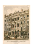 View of the Officies of the Promoter Life Insurance Company with the Adjoining Buildings, Fleet… Giclee Print by Robert Dudley