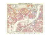 Descriptive Mapa de Londres Poverty , 1889 Lámina giclée