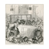 Trial of the Bank Forgers at the Old Bailey Giclee Print