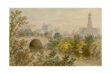 Old Bridge over the Lake, Regent's Park, London Giclee Print by William Henry Prior