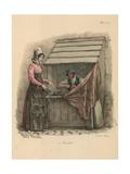 Cobbler Seated Behind a Stall Giclée-Druck von Carle Vernet