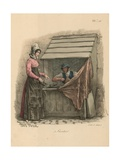Cobbler Seated Behind a Stall Giclee Print by Carle Vernet