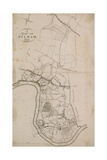 A Map of Fulham, London, 1813 Giclee Print