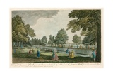 A View of St James's Park, London, from Rosemary's Pond Giclee Print by Jean Baptiste Claude Chatelain
