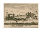 A View of Fulham Bridge and Putney Giclee Print
