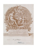 Invitation to a Banquet at the Guildhall, London, on 9 November 1900 Giclee Print by Giovanni Battista Cipriani