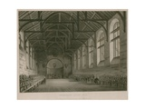 Interior of Westminster School Giclee Print by Augustus Charles Pugin
