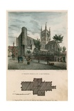 St Saviour's Church, Southwark, Surrey, North West View Giclee Print by Charles Burton