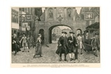 The Johnson Centenary: Dr Johnson and Boswell in Fleet Street Giclee Print by Charles Green