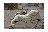 Byzantine Art. Relief Depicting a Lion on the Facade of the Church of St. Nicholas. Mesopotam.… Giclee Print