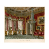 Rose Satin Drawing Room, Carlton House, London Giclee Print by Charles Wild