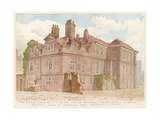The Rear View of Fairfax House, High Street, Putney, London, Formerly the Residence of General… Giclee Print by John Phillipp Emslie