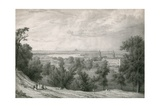 View of Greenwich, London Giclee Print by William Westall