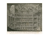 Interior of the Late Theatre Royal, Drury Lane, London Giclee Print by John Winston